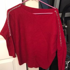 Jennifer Lopez Red Sweater